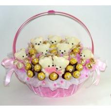 Корзинка -Сладкие мишки
