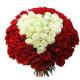 Букет из 101 розы с сердцем