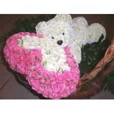 Игрушка медведь с розами