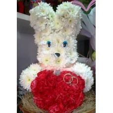 Игрушка свадебный заяц