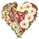 Сердце с клубникой